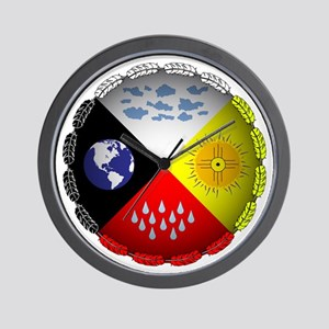 Medicine Wheel Wall Clock