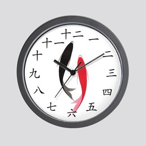 Chinese Fish Wall Clock