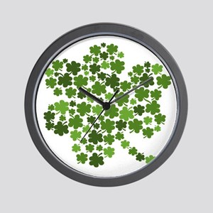Irish Shamrocks in a Shamrock Wall Clock