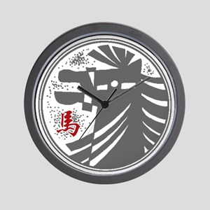 horseA73dark Wall Clock