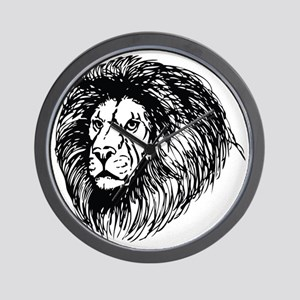 lion - king of the jungle Wall Clock