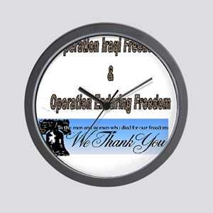 Operation Iraqi Freedom Wall Clocks - CafePress