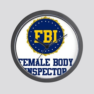 FBI Female Body Inspector Wall Clock