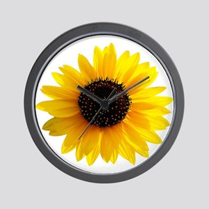 Golden sunflower Wall Clock