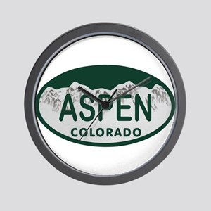 Aspen Colo License Plate Wall Clock