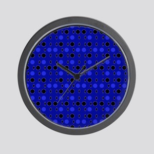Blue Black Comeback Designer Wall Clock