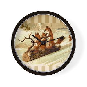 a825af294 Fox Wall Clocks - CafePress