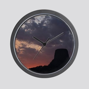 Towering Sunset Wall Clock
