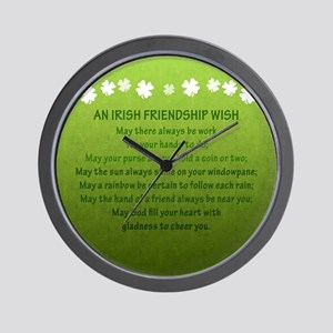 2-FriendshipWishSquare_Bleed Wall Clock