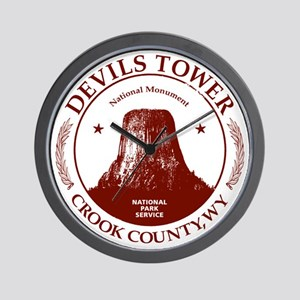 Devils Tower W Wall Clock