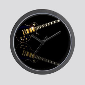 Black Beauty Electric Guitar Wall Clock