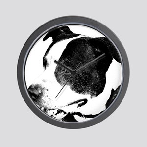 american staffordshire terrier art Wall Clock