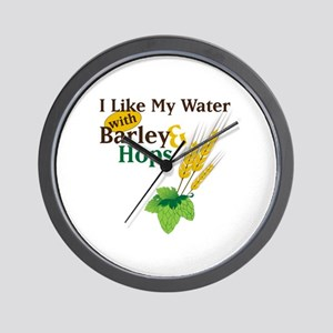 I Like My Water with Barley Hops Wall Clock