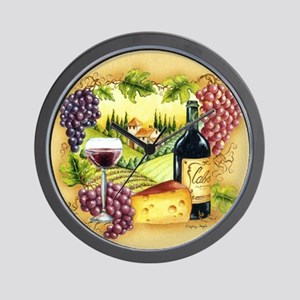 Wine Wall Clocks Cafepress
