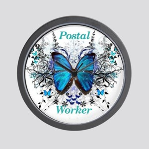 Postal Worker Butterfly Wall Clock