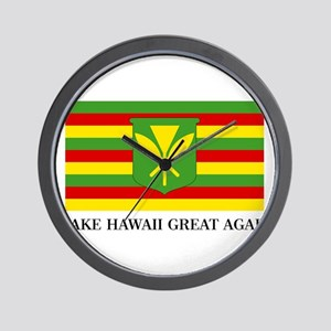 MAKE HAWAII GREAT AGAIN - Kanaka Maoli Wall Clock