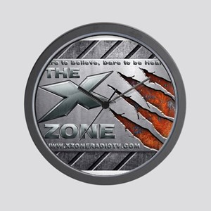 Brushed Steel - X ZONE logo Wall Clock