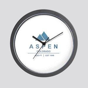 Aspen Ski Resort Colorado Wall Clock