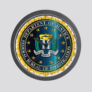 FBI Seal Mockup Wall Clock