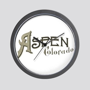Aspen Colorado Wall Clock