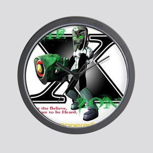 The X-Zone Alien_Green wGun Wall Clock