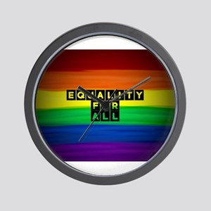 Equality for all . Rainbow art Wall Clock