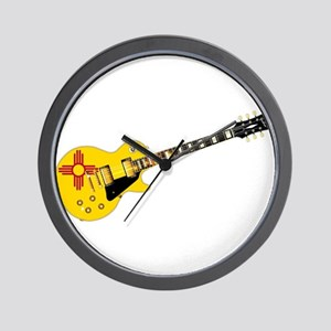 New Mexico State Flag Guitar Wall Clock