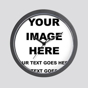 Your Photo and Text Here T Shirt Wall Clock