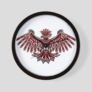 023515599 Eagle Tattoo Style Haida Art Wall Clock