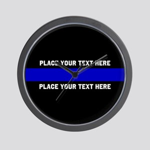 Thin Blue Line Customized Wall Clock