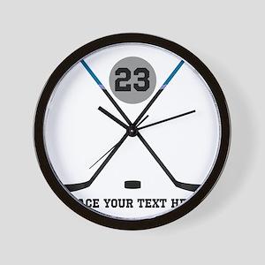 Hockey Stick Wall Clocks - CafePress