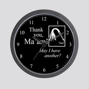 Thank You Ma'am Wall Clock