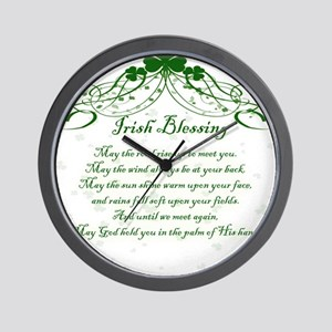 irishblessing Wall Clock