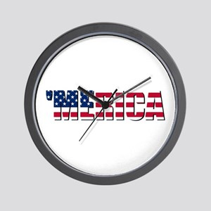 Merica USA Wall Clock