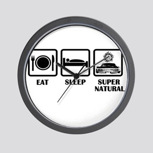 Eat Sleep Supernatural Wall Clock