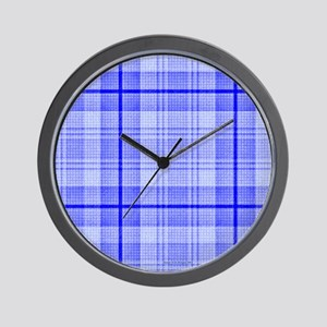 Surfer Plaid Wall Clock