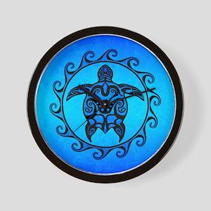 e7e903a91 Maori Ocean Blue Turtle Wall Clock