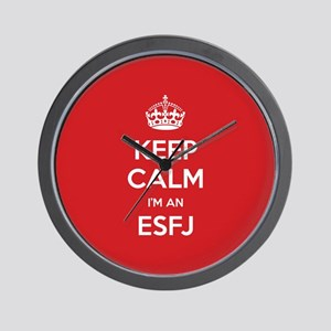 Keep Calm Im An ESFJ Wall Clock