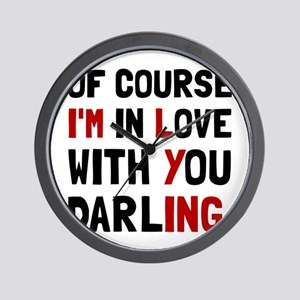 Love Darling Wall Clock