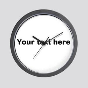 Template Your Text Here Wall Clock
