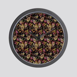 Pretty paisley Wall Clock