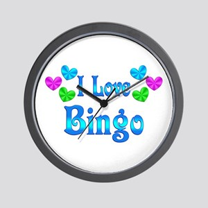 I Love Bingo Wall Clock
