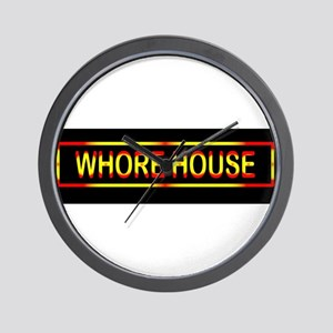 Whore House Sign Wall Clock