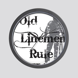 old linemen rule 2 Wall Clock