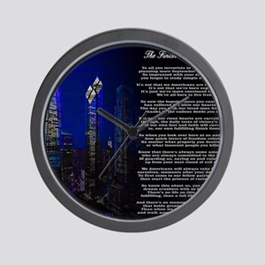The Finish Line of Victory Poem Wall Clock