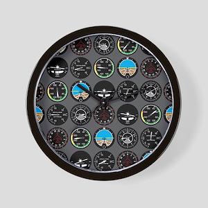 Flight Instruments Wall Clock