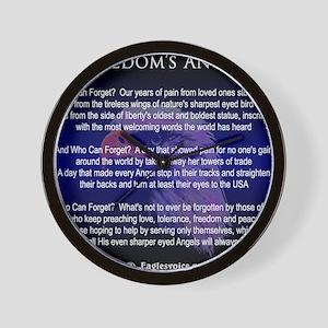 Freedoms Angels Wall Clock