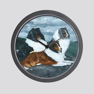 Mountain Mist Sheltie Wall Clock