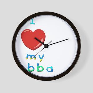 I love my abba Wall Clock