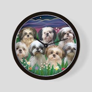 8x10-7 SHIH TZUS-Moonlight Garden Wall Clock